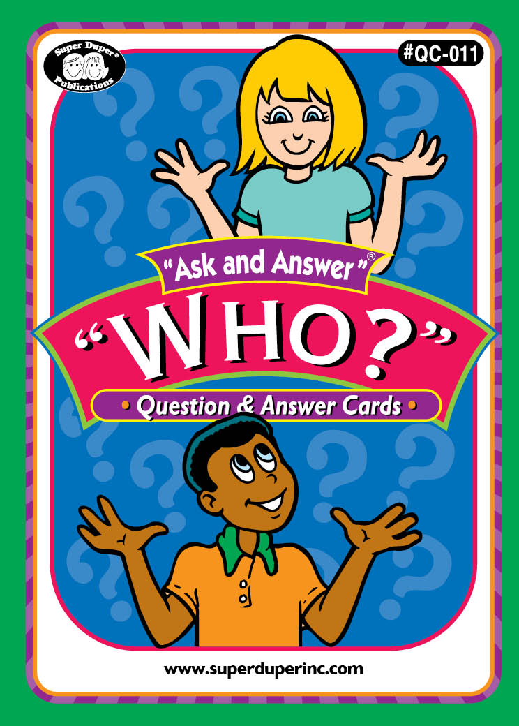 """Ask And Answer """"Who"""" Cards"""