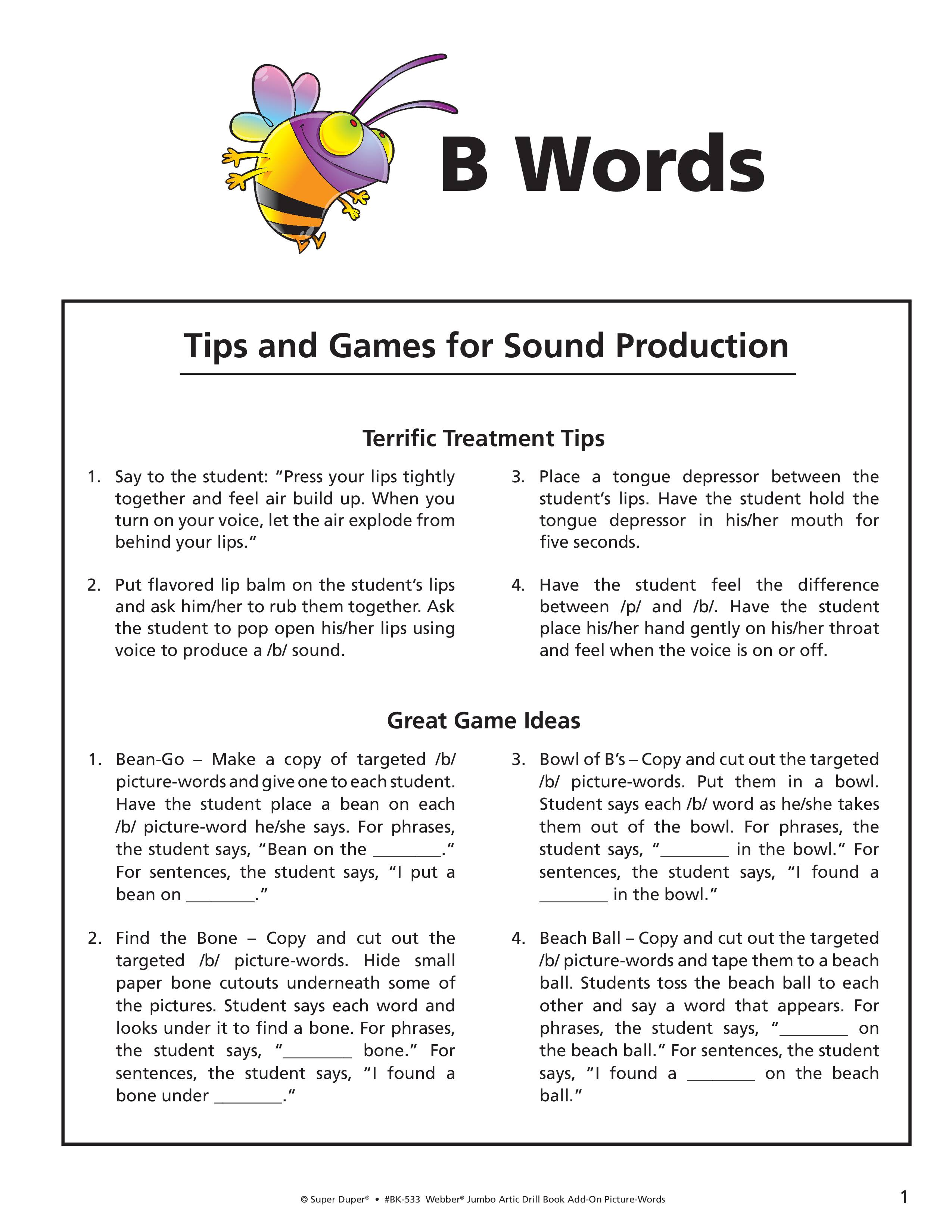 B, M, P Worksheets - Webber Jumbo Artic Drill Book Vol 2