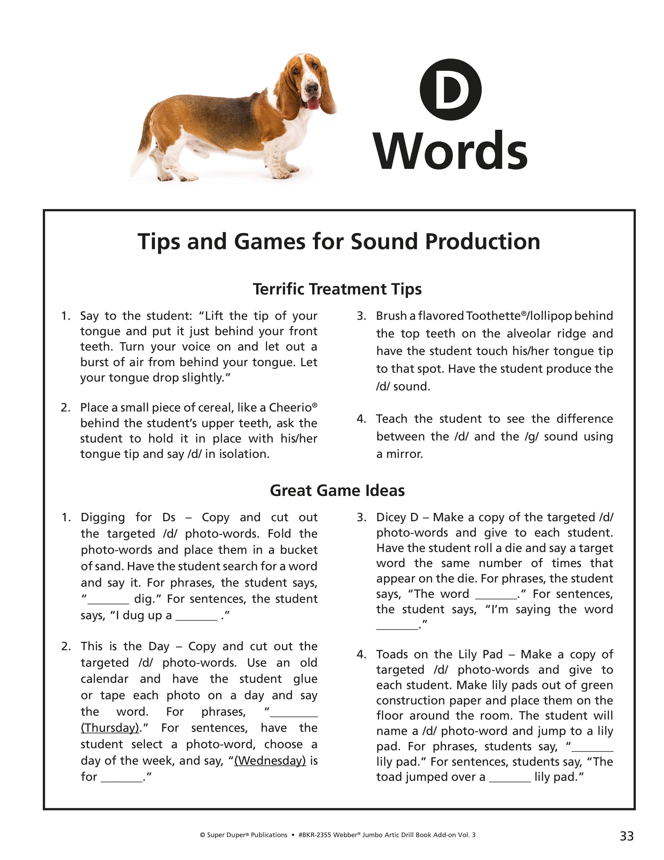 D, N, T Worksheets - Webber Jumbo Artic Drill Book Vol 3