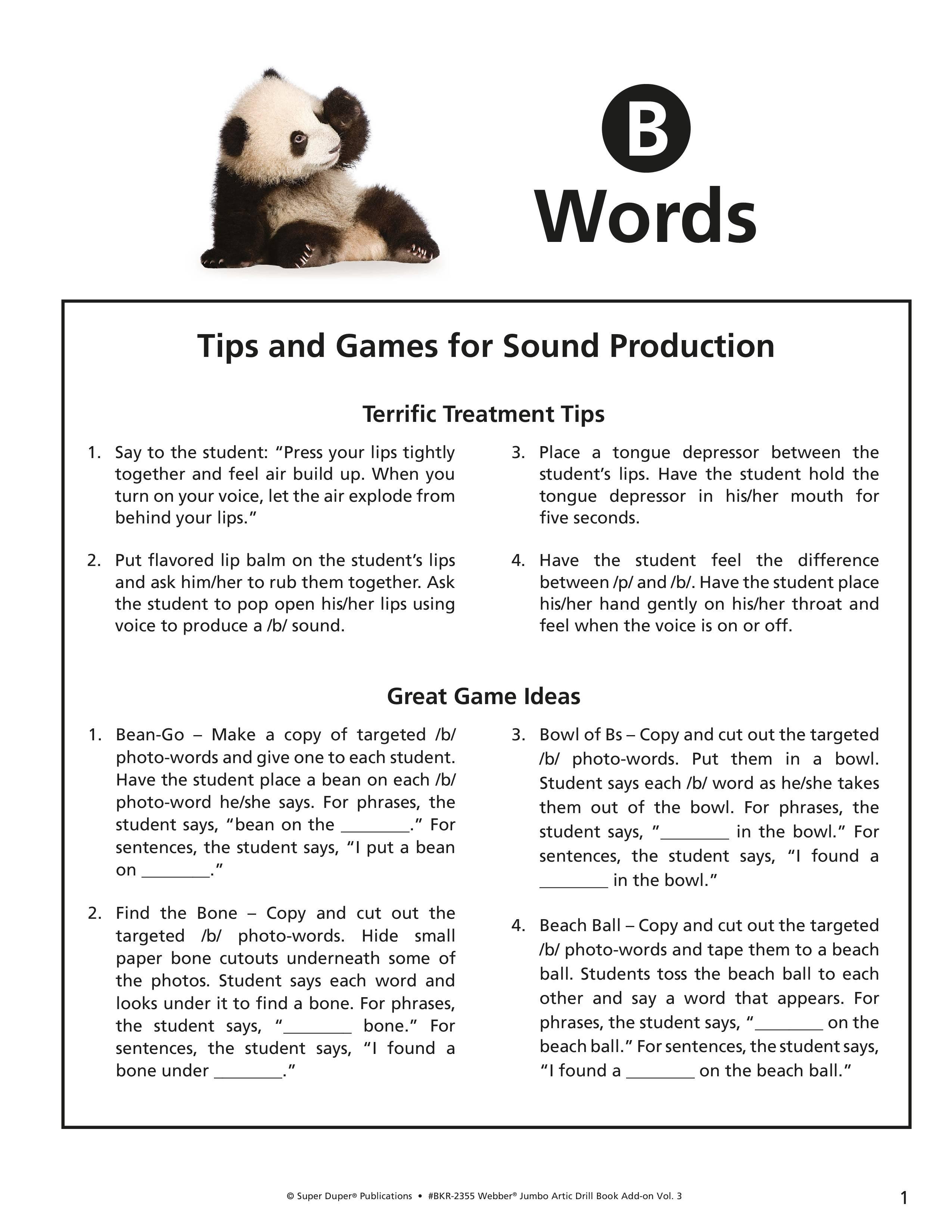 B, M, P Worksheets - Webber Jumbo Artic Drill Book Vol 3