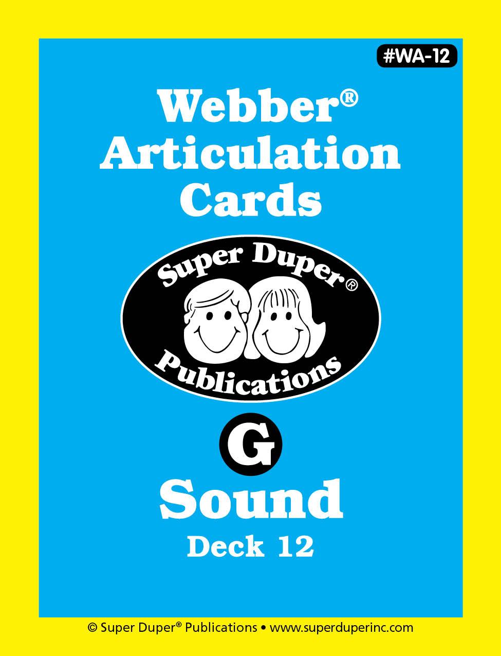Webber Articulation Cards - G