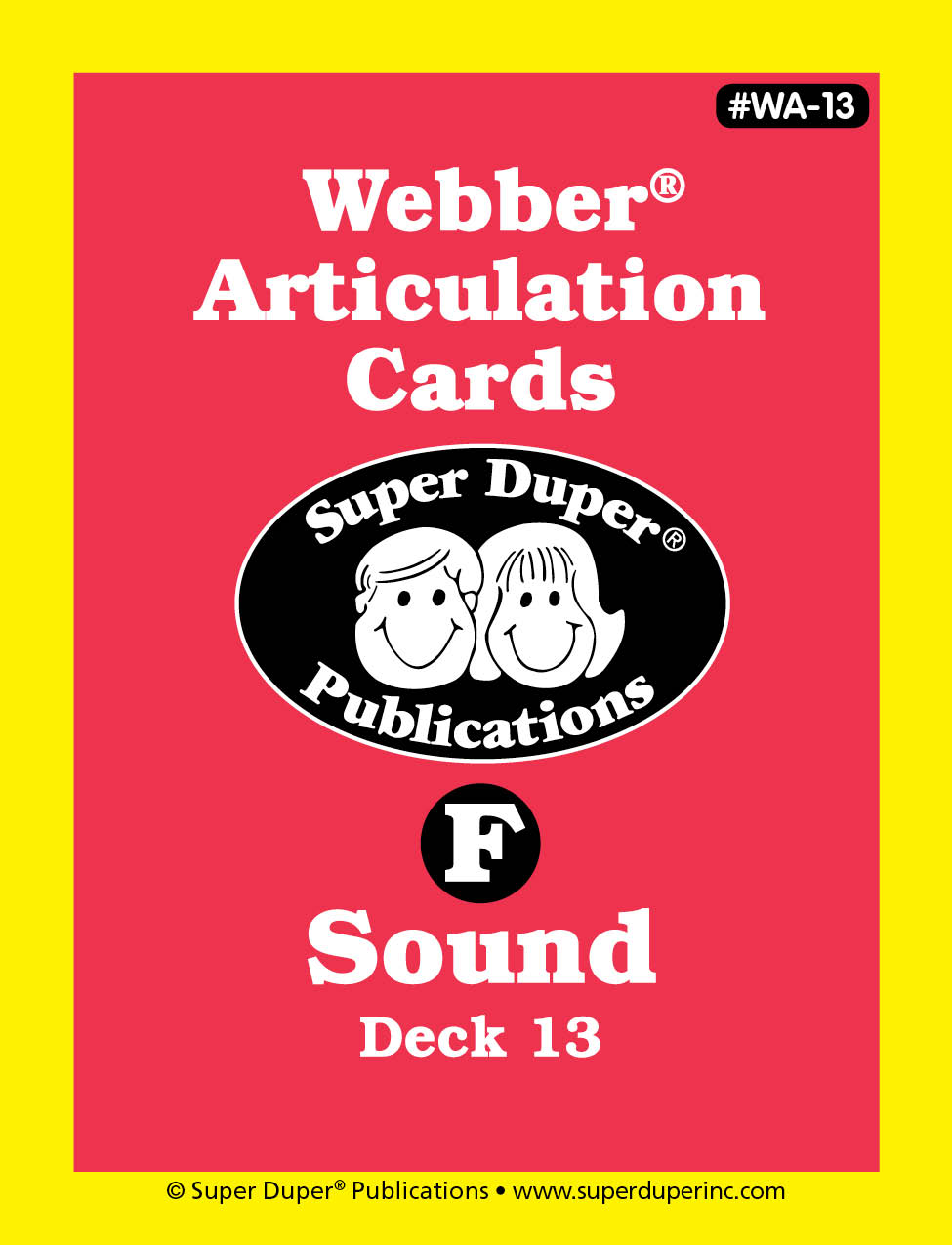 Webber Articulation Cards - F