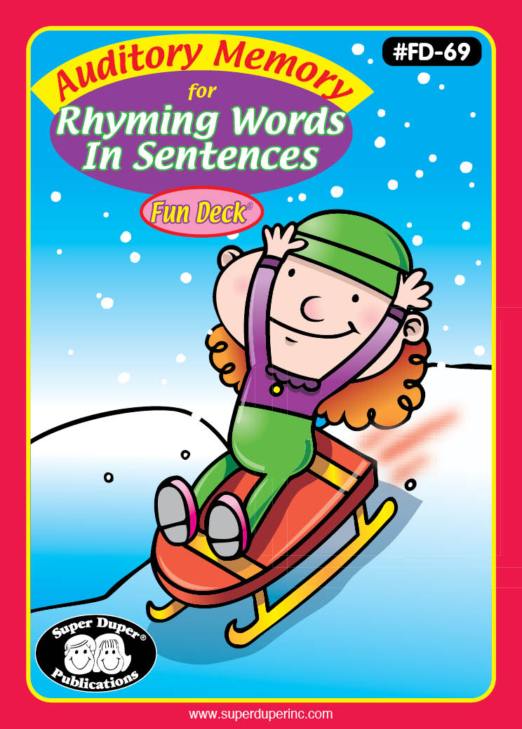 Auditory Memory for Rhyming Words in Sentences Fun Deck